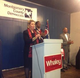 Mayor-elect Nan Whaley with City Commissioners Joey Williams and Jeffrey Mims.