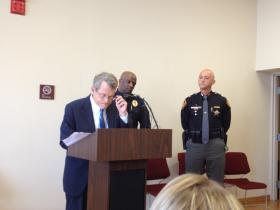 Attorney General Mike DeWine at Tuesday's press conference