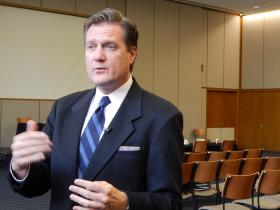 Rep. Mike Turner (R-10th) spoke last month on the possible impacts of sequestration.