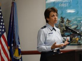 Colonel Cassie Barlow heads the 88th Air Base Wing at Wright-Patterson AFB.