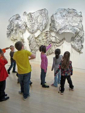 Visitors at the Springfield Museum of Art