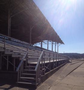 Montgomery County Fairground grandstands.