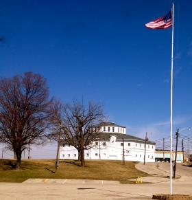 The Octagon Building (known to many as 'The Roundhouse') at the Montgomery County Fairgrounds is slated to move to the new site once all issues have been cleared.