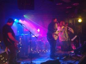 Cricketbows onstage at Canal Public House in Dayton, 2014