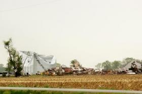 Barber Road farm hit by tornado