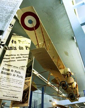 One of the few surviving Caudrons on exhibit at the Musee de'l'air et Space in Paris.