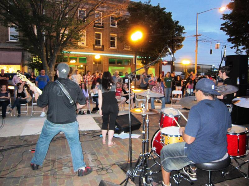Music on the streets during the spring edition of Urban Nights