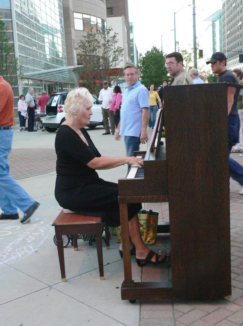 The public pianos, which will be back at this weekend's Urban Nights