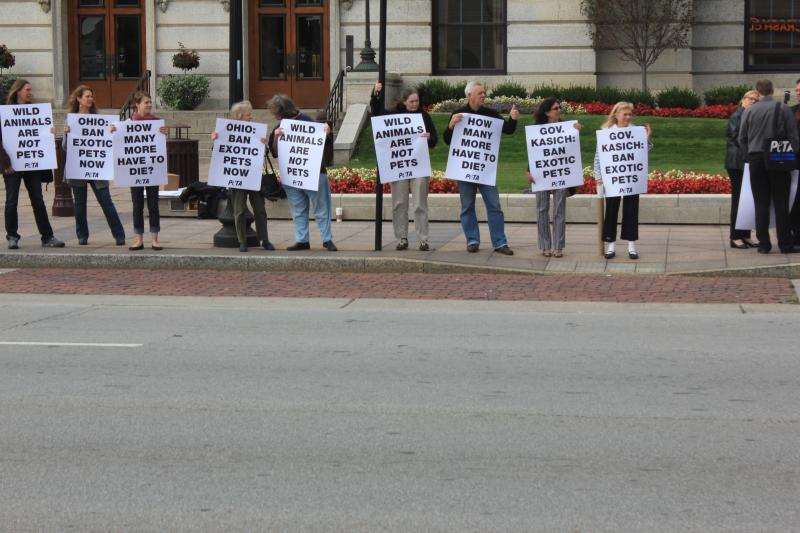 PETA Protesters Outside The Statehouse