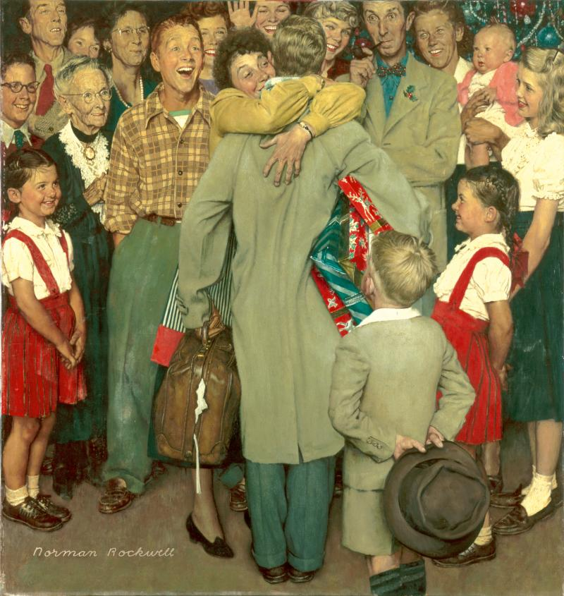 Norman Rockwell's Christmas Homecoming