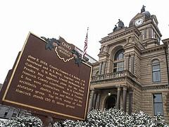 Hancock County Courthouse in Findlay Ohio where lockout protests were held.