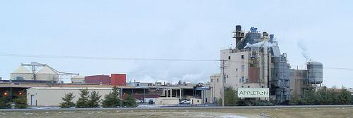 The Appleton paper plant in West Carrollton as seen from I-75.