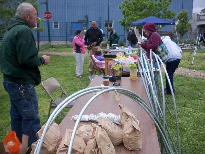 Attendees at Garden Station's Sunday Market