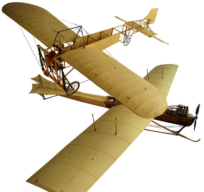 At The Musée de l'Air et de l'Espace near Paris, two examples of the main competitors to cross the Channel first.  At the top a Bleriot IX, built and flown by Louis Bleriot.
