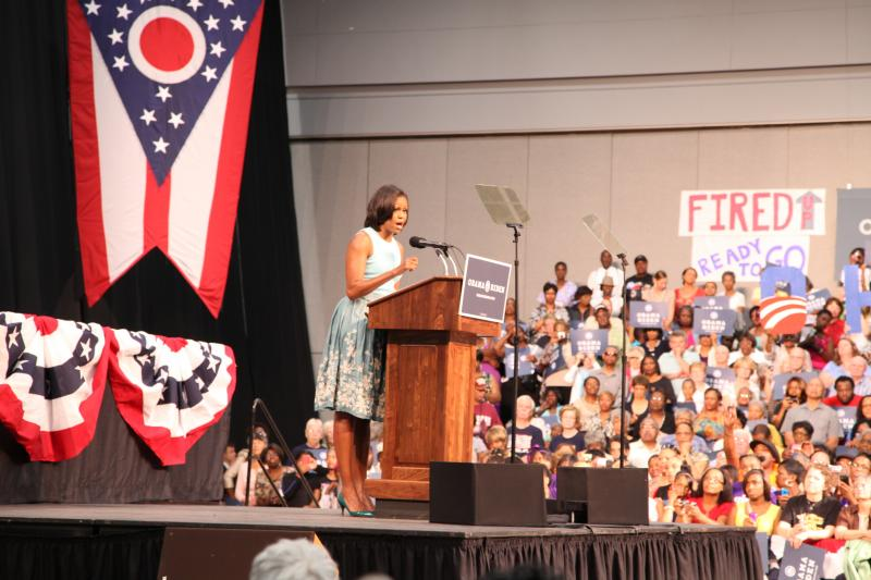 Michelle Obama at the Dayton Convention Center