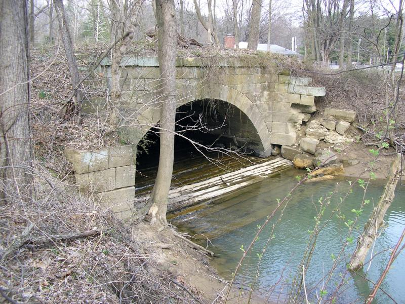 The arch at the Old Town creek
