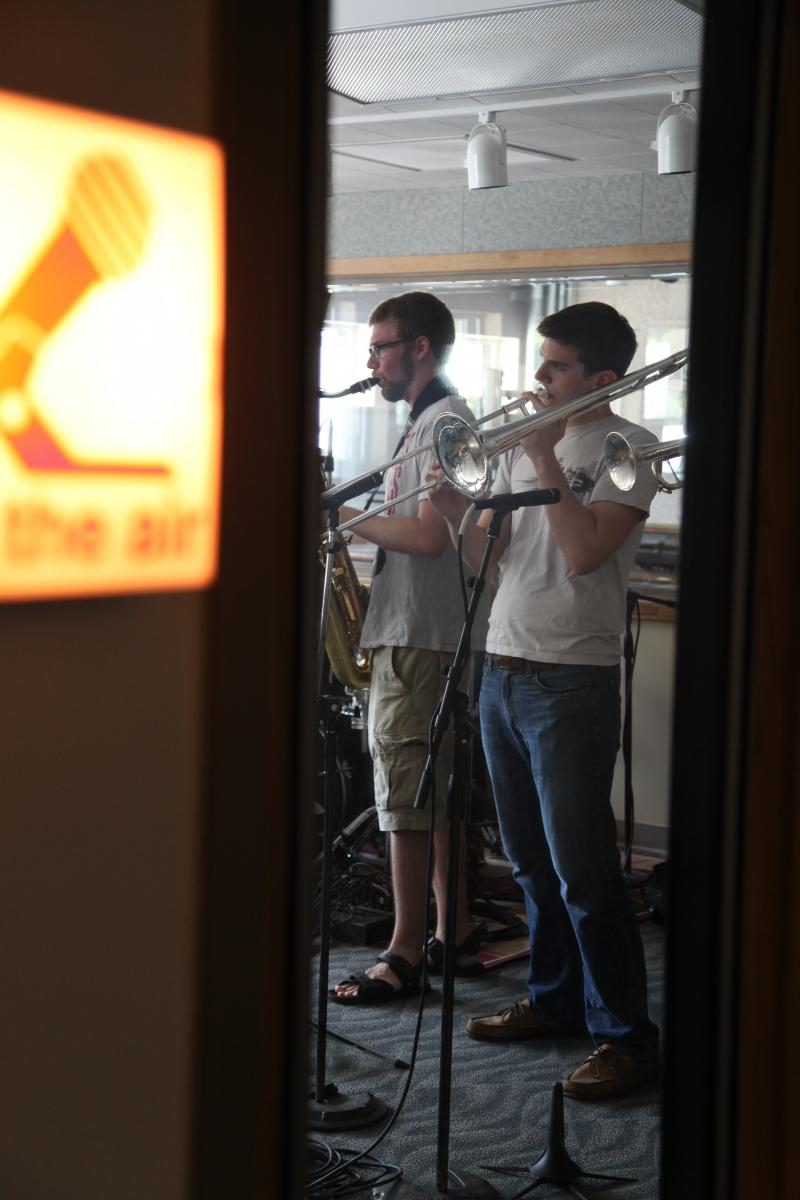 Matt Schroeder and Mike Jones perform live in the WYSO studios