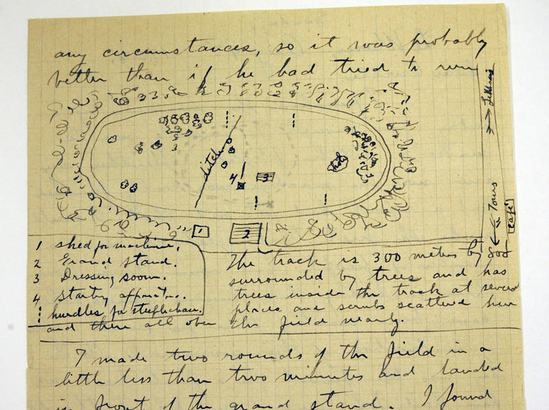One of Wilbur Wright's letters from LeMans