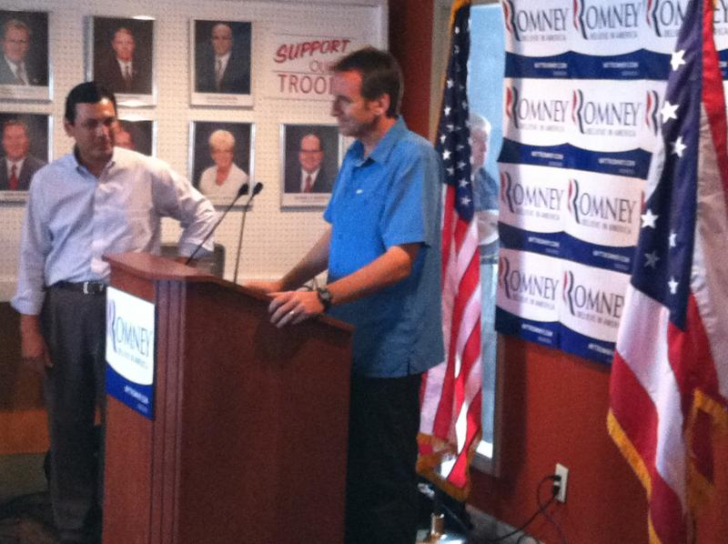 Pawlenty with Congressman Steve Austria at Clark County GOP headquarters