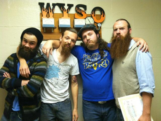 Branden Tussing, Nate Stevens, Stephen Alexander and Thomas Smith from Beard Team Ohio
