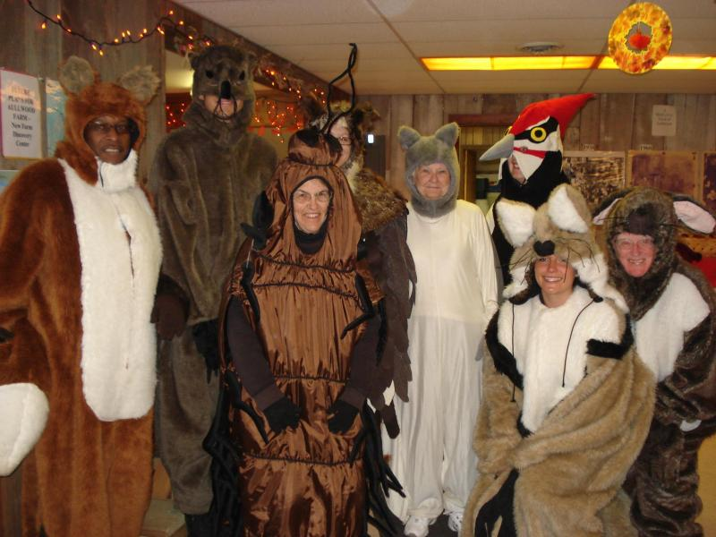 Volunteers at Aullwood's Enchanted Forest