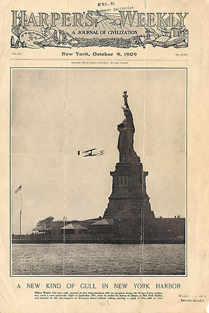 Wilbur's New York flight makes the cover of Harper's Weekly.