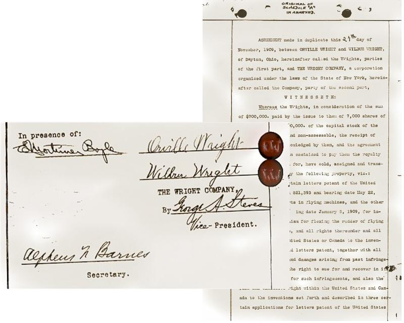 The incorporation papers of the Wright Company.