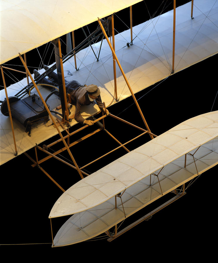 Another view of the 1903 Flyer made in 2000 and also the cover of Volume One, The Aviation Century.  The only book published in 2003 with a new image of the Wright Flyer I in the cover.