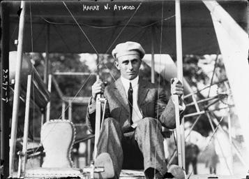 Harry Atwood in a Wright Flyer.