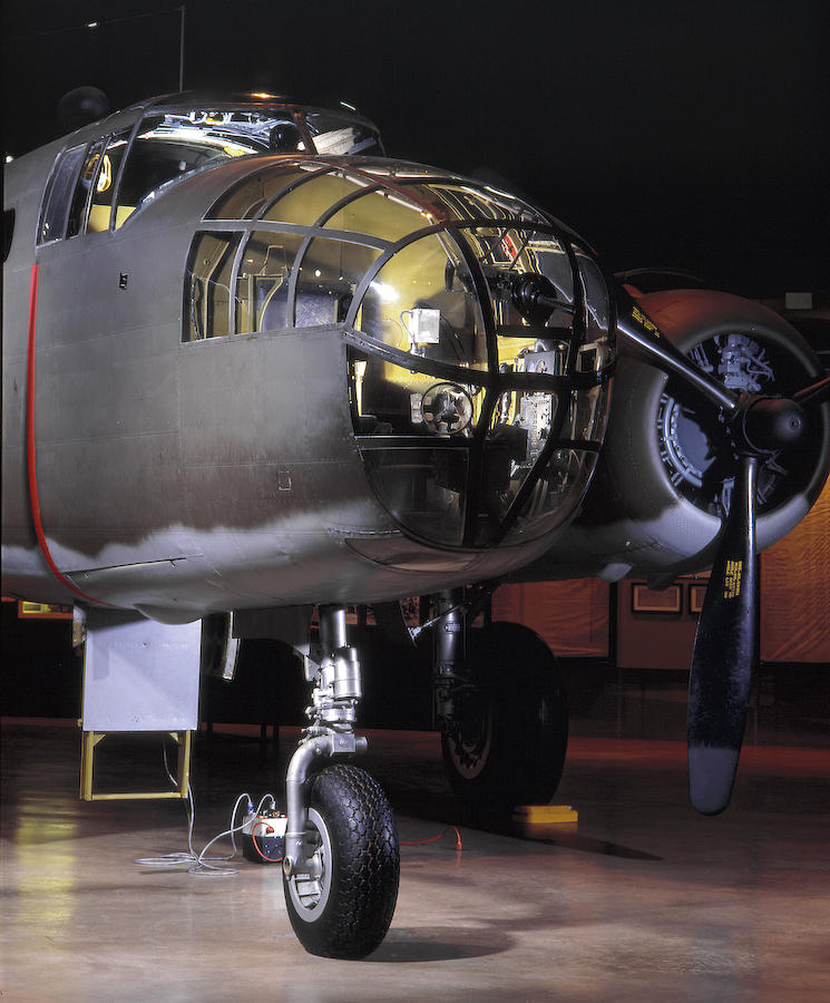 B25, at the National Museum of the United States Air Force, this aircraft is restored to the model used by the Raiders.