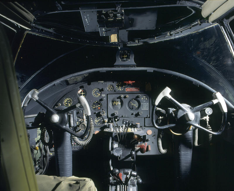 B-25 Cockpit, at the National Museum of the United States Air Force, this aircraft is restored to the model used by the Raiders.