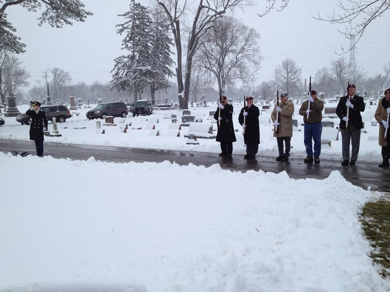 Guard of Honor and bugler for Jack Reames