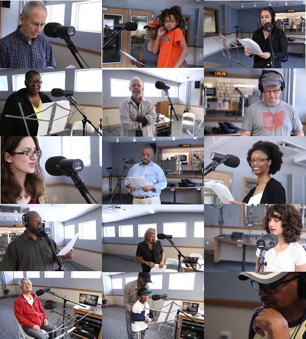 Participants in We Have a Dream recording at the WYSO studios