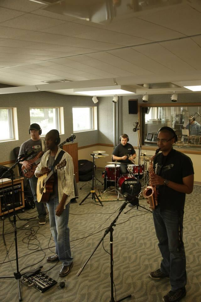 The Steven Gregory Band in the WYSO studios
