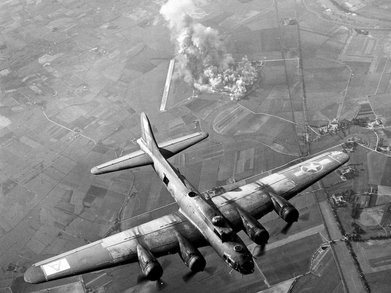 A B-17 Flying Fortress in flight in 1943
