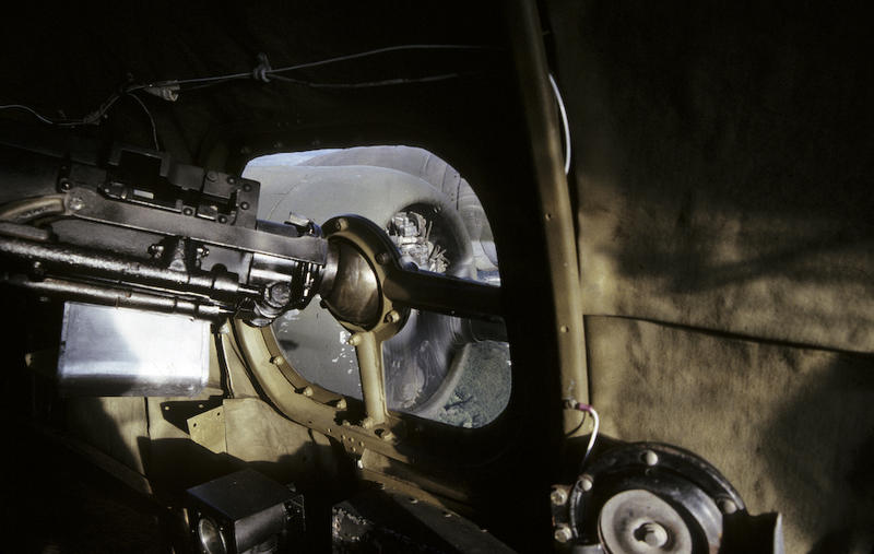 Closeup of the nav gunner's position in the B-17