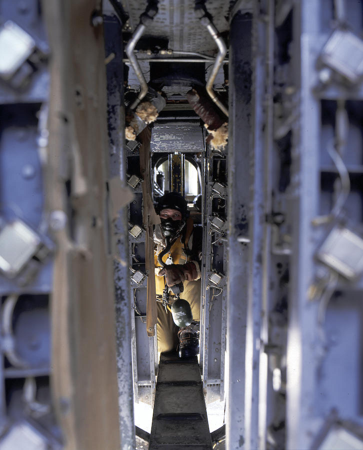 The catwalk of a B-24