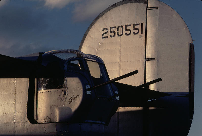 The tail of a B-24