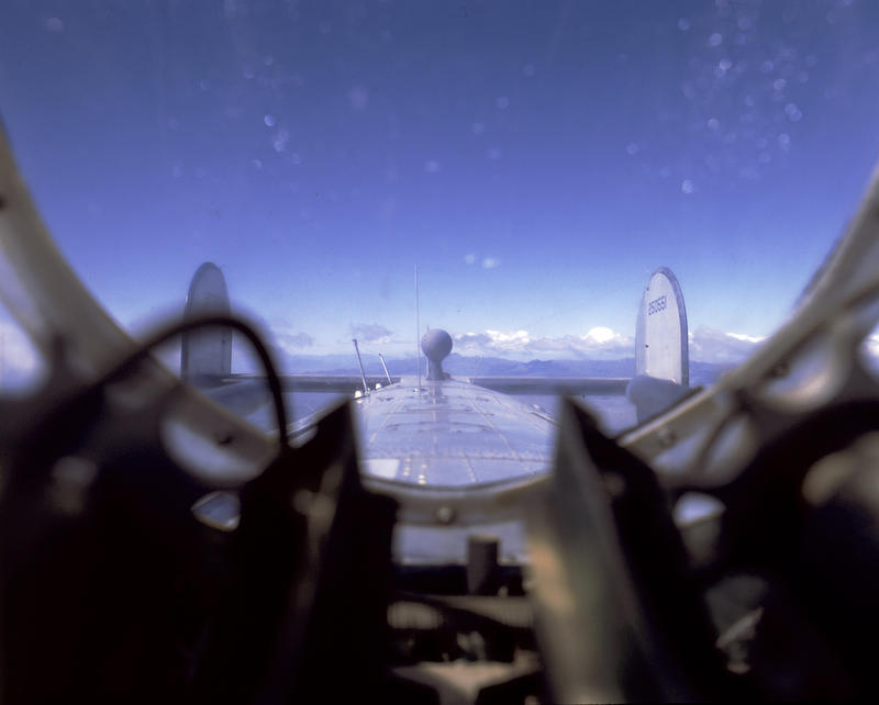 The view from the top turret of a B-24