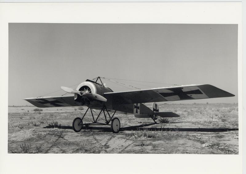 The Fokker pursuit plane with interrupter gear for machine gun