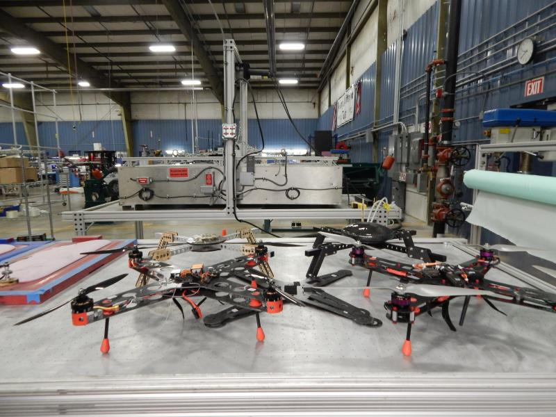 SelectTech is experimenting with materials for these UAVs that run on four tiny motors and five computers.