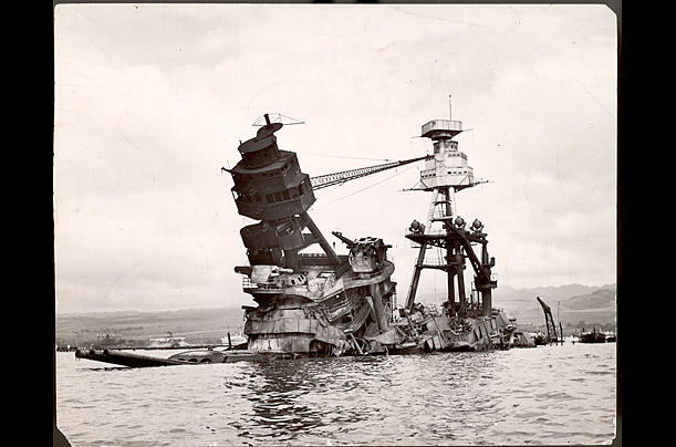 The sunken Battleship Arizona