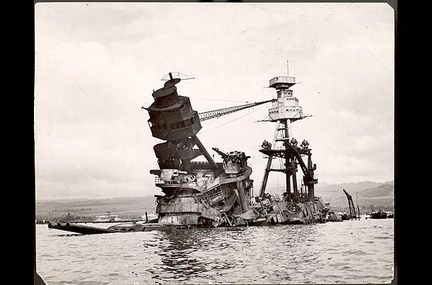 The sunken Battleship Arizona