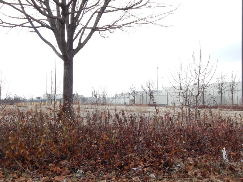 The view from the old employee entrance to the Moraine GM plant, where Fuyao plans to put a new entrance to the plant.
