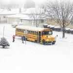school bus snow day