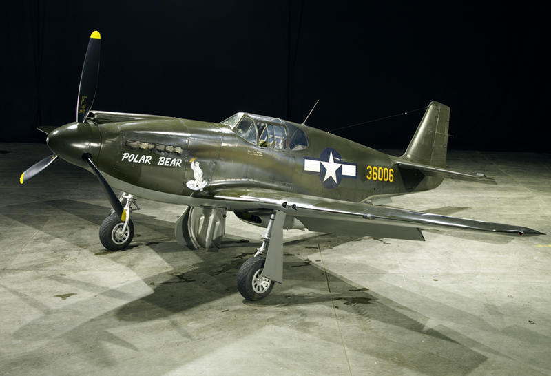 Polar Bear, P-51A, an early Mustang before the Rolls-Royce Engine was married to airframe.