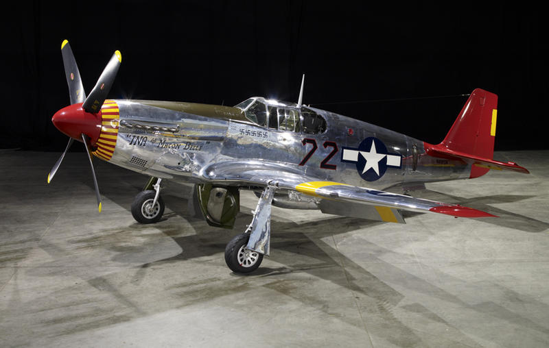 "Red Tail, P-51C, the first version of the Mustang with the Rolls-Royce engine, This one painted as one of the ""Red Tails"", the Tuskegee Airmen."