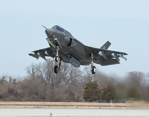 A Lockheed Martin F-35 air plane air force