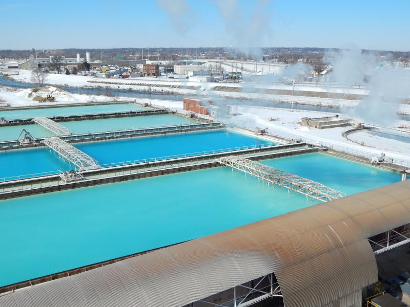 "At the lime recycling plant in Dayton, four more ponds have that blue ""Florida"" glow."