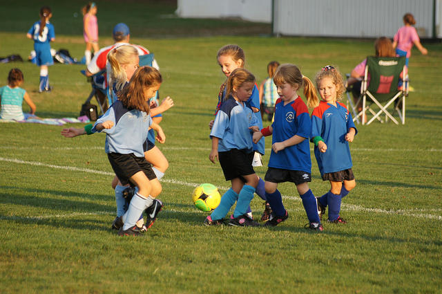 Ohio kids playing soccer in 2012.